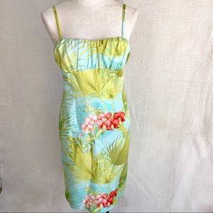 Tommy Bahama Dress Silk Tropical Hawaiian Print